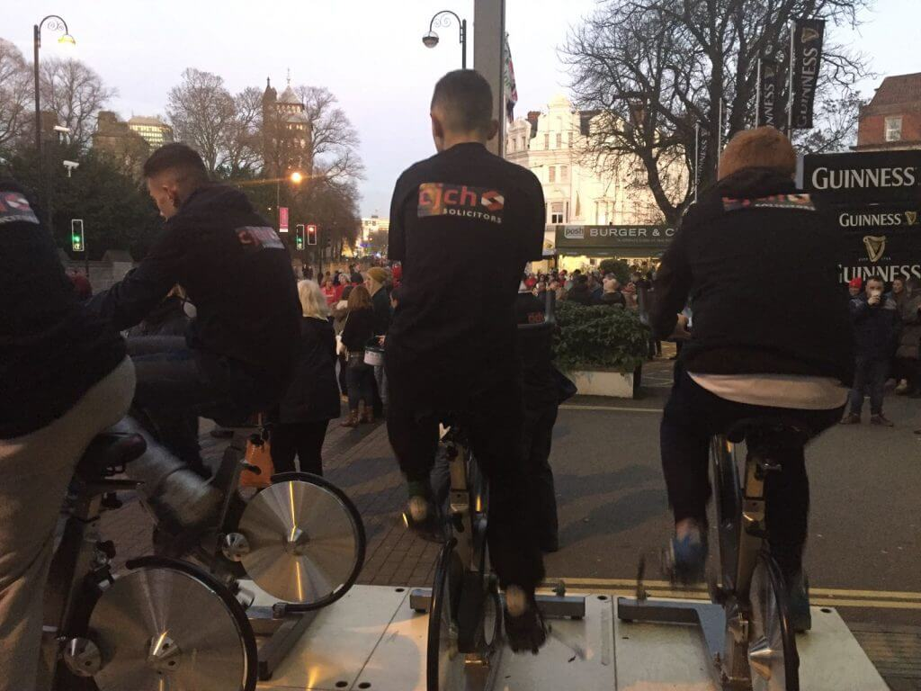 Barry Comprehensive rugby team members take part in the fundraising cycle!